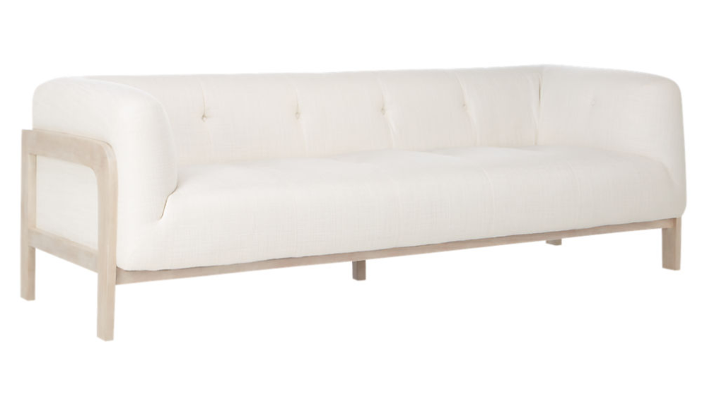 Moet White Tufted Sofa Cb2 In 2020 Tufted Sofa Sofa Review Living Room Furniture Sofas