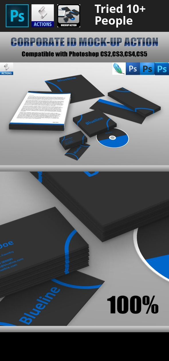 Corporate id mockup action mockup action and photoshop buy corporate id mockup action by bluevistadesign on graphicriver corporate id mockup action compatible with photoshop optimized for business card in reheart Images
