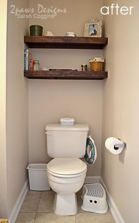 Half Bath Shelving Bathroom Decor Basement Bathroom Design