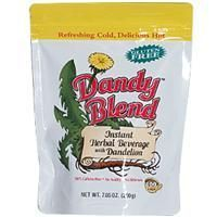 Dandy Blend (100% Caffeine Free) is so versatile that, depending on how much pow - Dandy Blend (100% Caffeine Free) is so versatile that, depending on how much pow…  Dandy Blend (100% Caffeine Free) is so versatile that, depending on how much powder you use, it can be everything from a pleasant, nutty roasted tea to a rich, strong espresso. It also is the easiest way to get the benefits of dandelion root into your diet. Add one spoonful in a cup of hot or cold liquid, stir, and it is ready to drink. It makes a partic