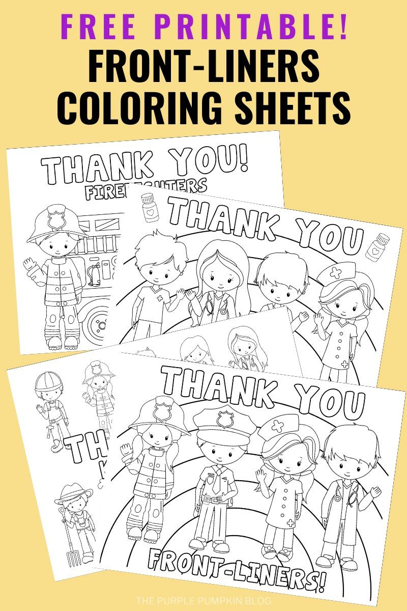 Essential Workers Coloring Sheets Coloring Sheets Printable Coloring Sheets Free Printables