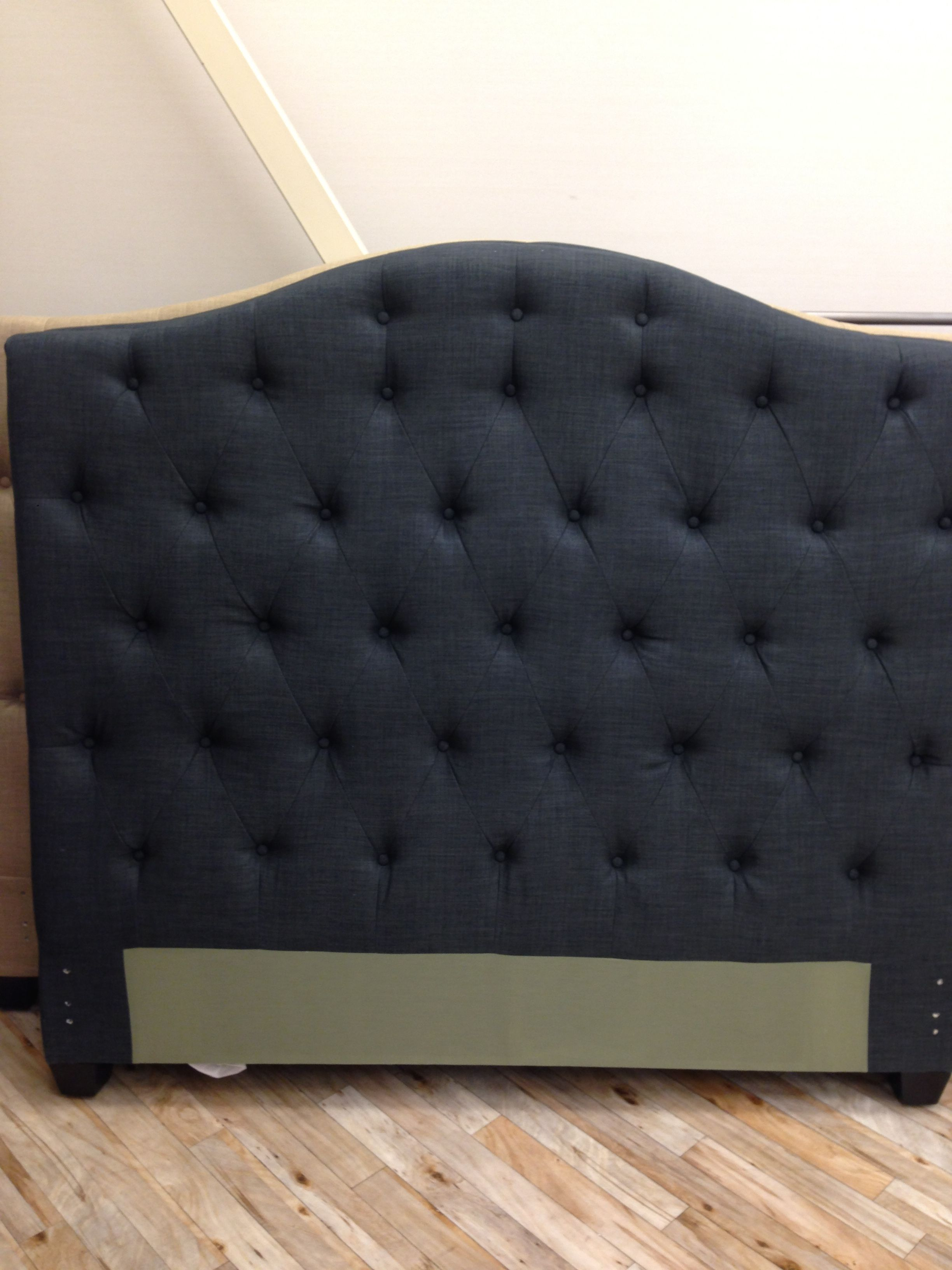 Navy Tufted Headboard By High Fashion Home: There Is No Doubt About It: This Deep Navy Tufted