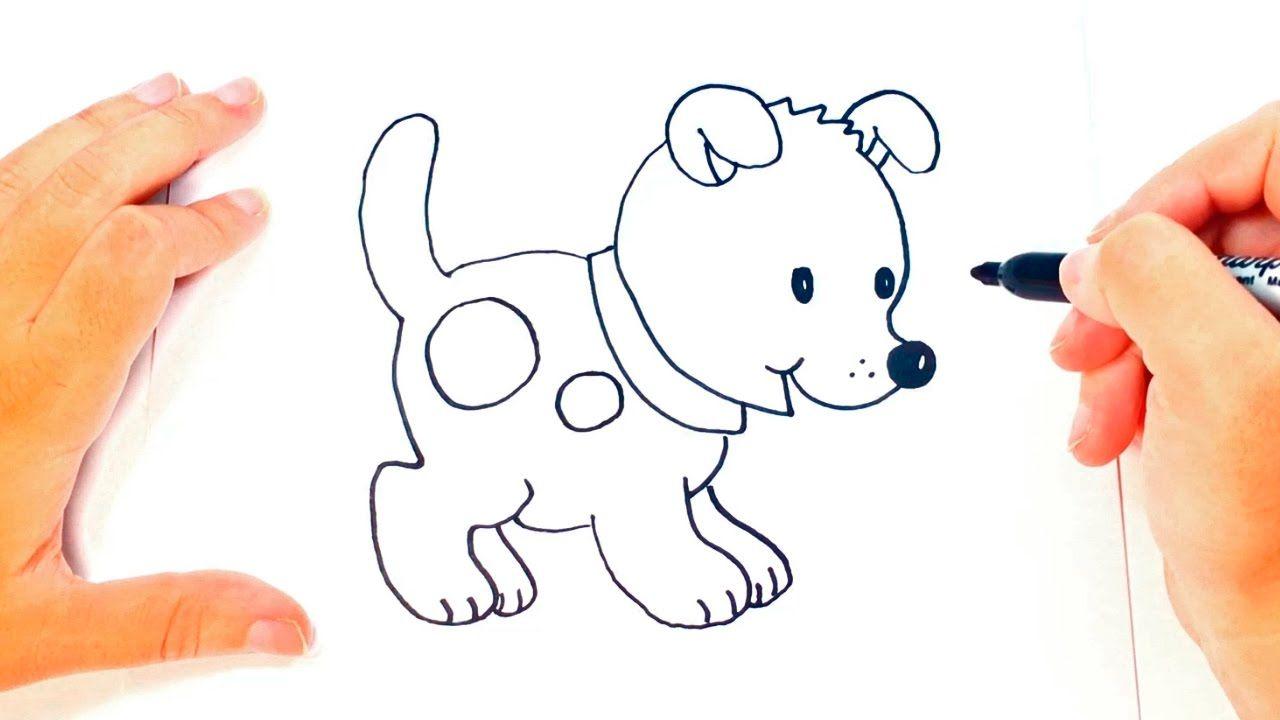 Como Dibujar Un Perrito Paso A Paso Dibujo Facil De Perrito