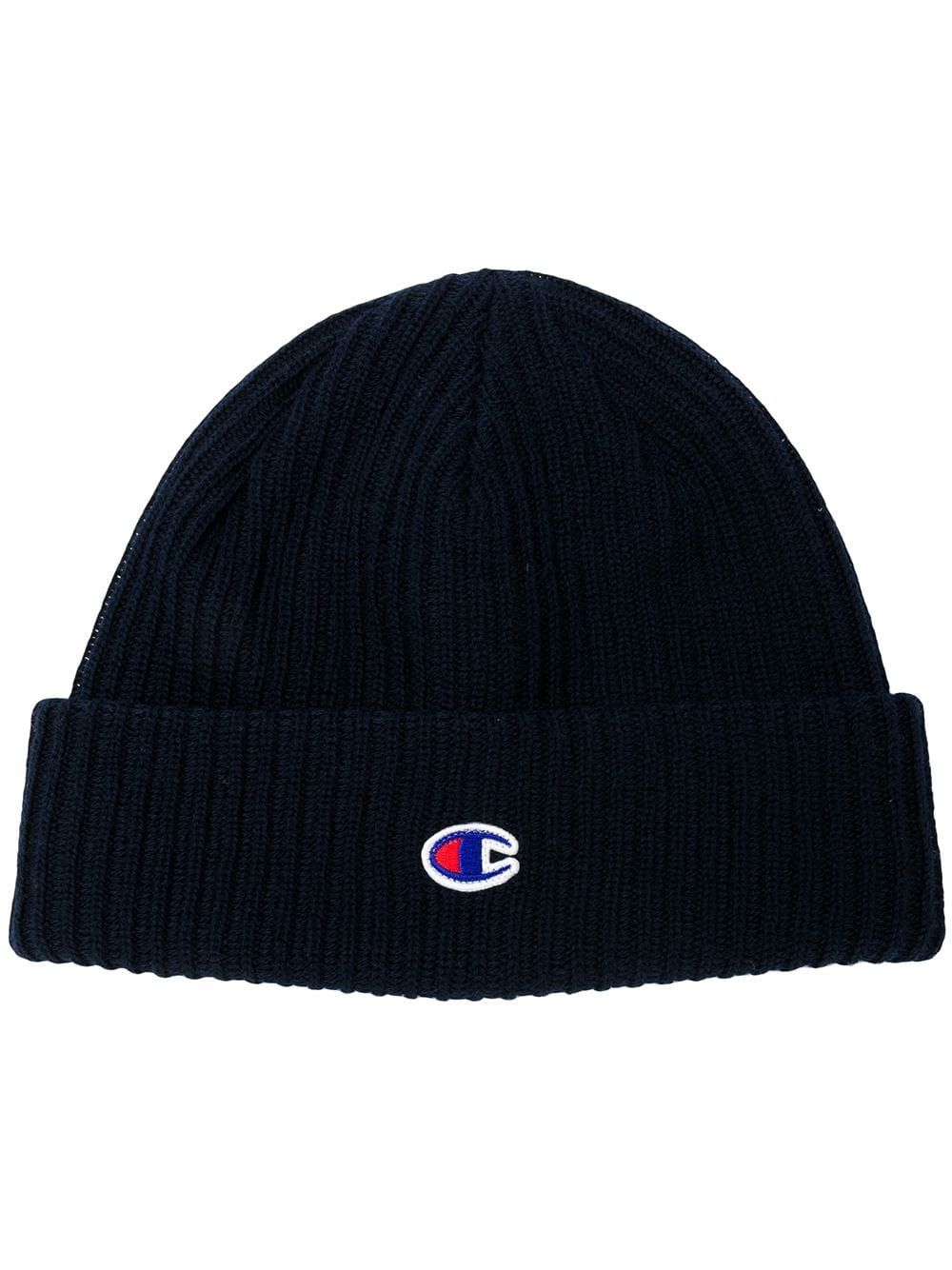 6f386685d Champion Embroidered Logo Beanie in 2019 | Products | Beanie, Blue ...