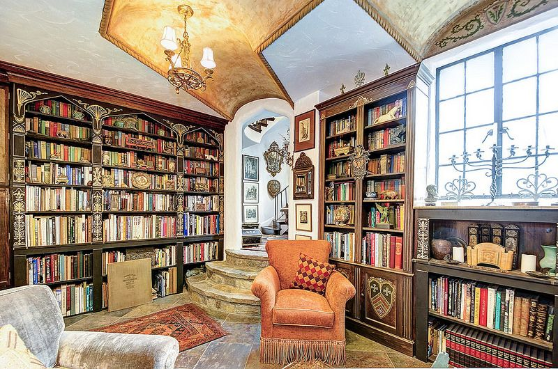 Washington Dc Old World Style Interior Home Library Castle
