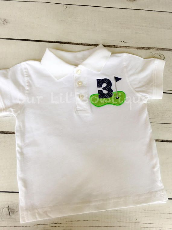 Golf Polo Birthday Shirt