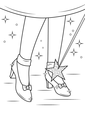 Ruby shoes coloring page from wizard of oz category select from 27007 printable crafts of
