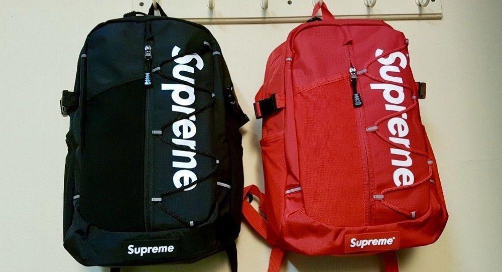 ab8441878 NEW SUPREME SS17 BACKPACK RED BLACK BOX LOGO #fashion #clothing ...