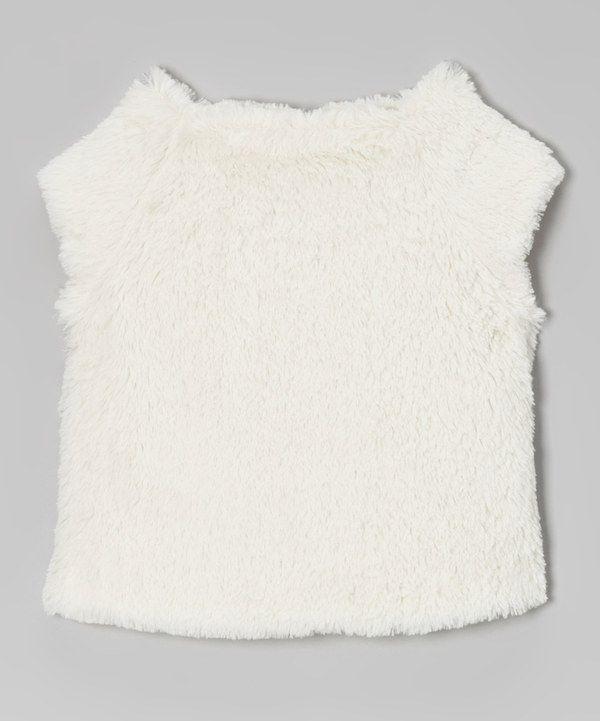 33055562b OmamiMini Ivory Faux Fur Vest