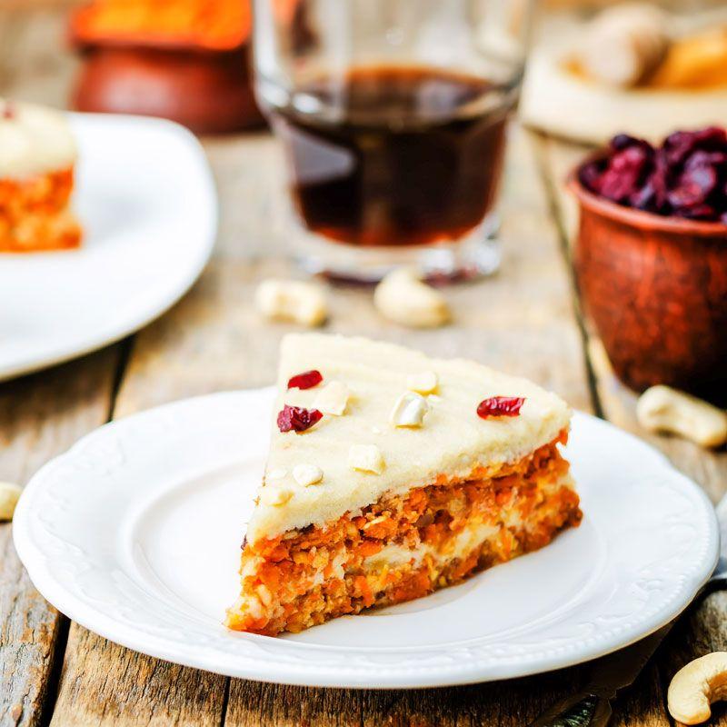 Veganer Karottenkuchen - ohne backen - Veganes ...