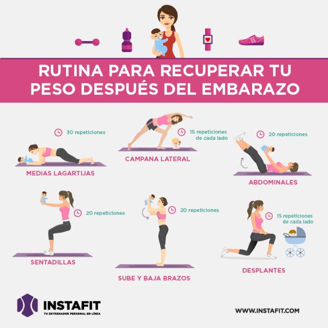 ejercicios para abdomen despues del parto