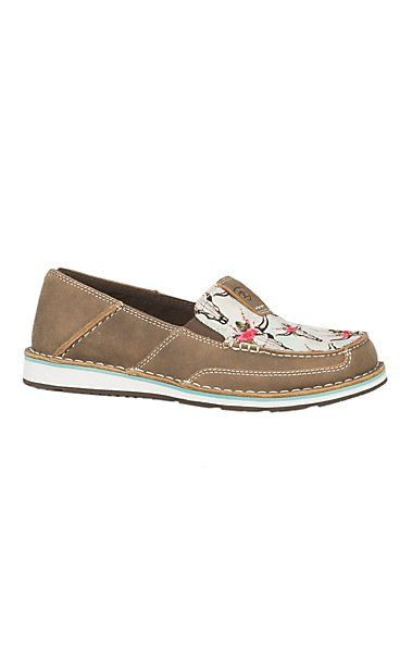 c9a747668a3d03 Ariat Women s Brown Bomber Steer Head   Roses Cavender s Exclusive Cruiser  Casual Shoe