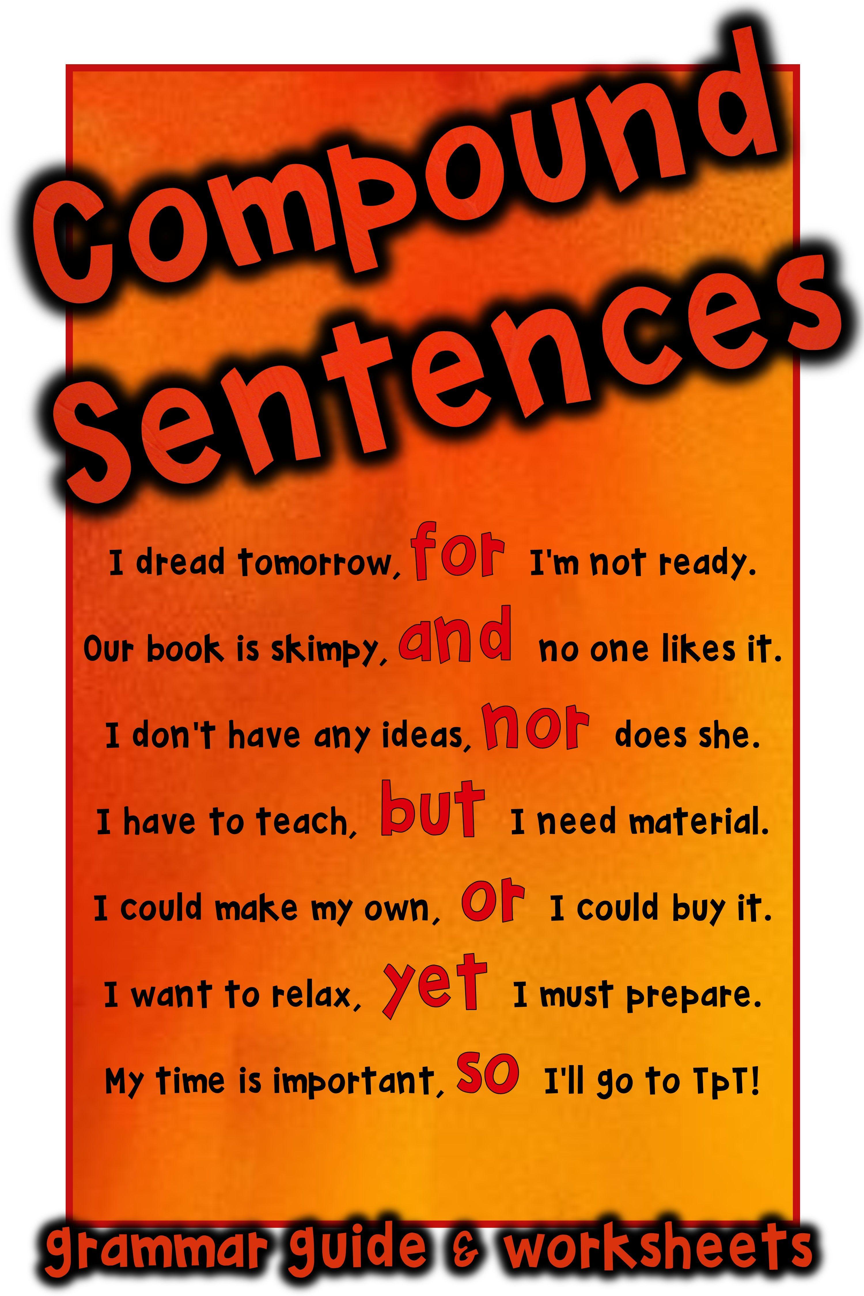 Compound Sentences Fanboys Coordinating Conjunctions