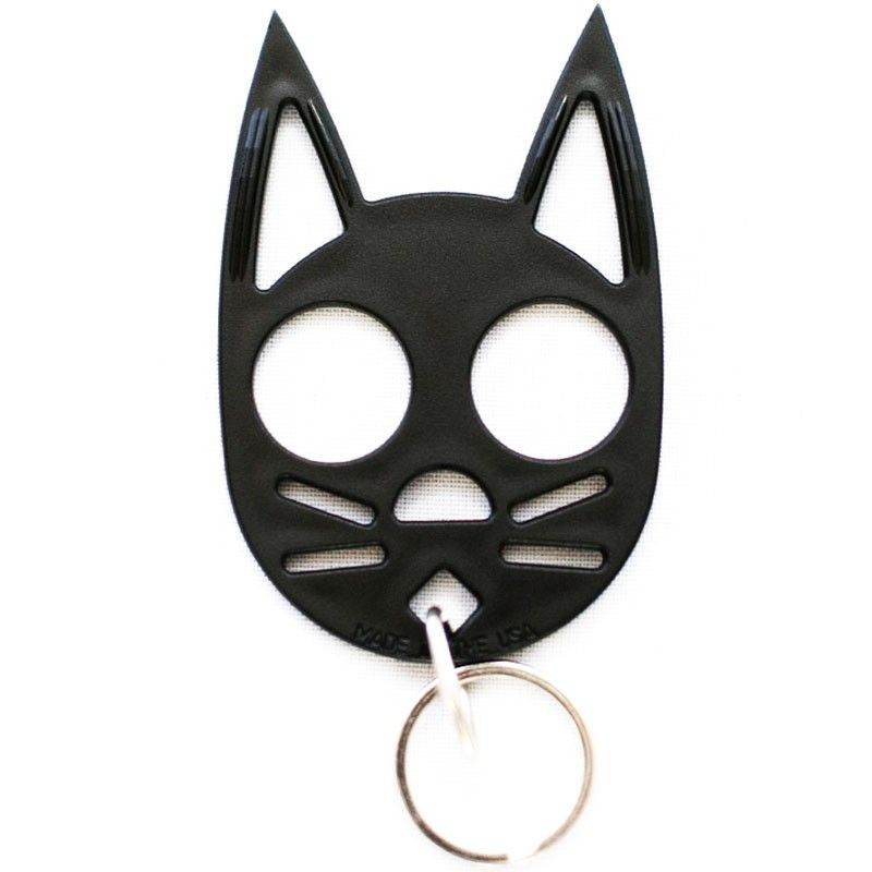 My Kitty Plastic Self Defense Keychain Weapon Black Cat Self