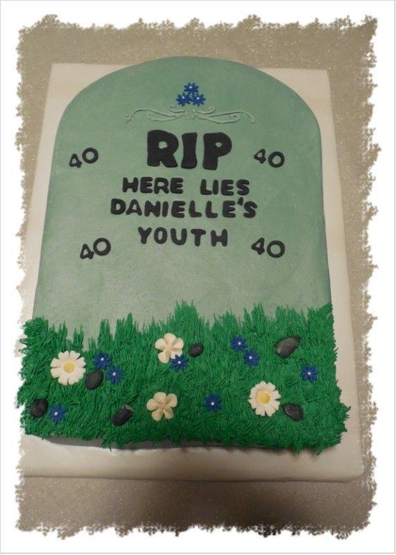 40th Birthday Cake Pretend It Says Allison Luv Ya 40th