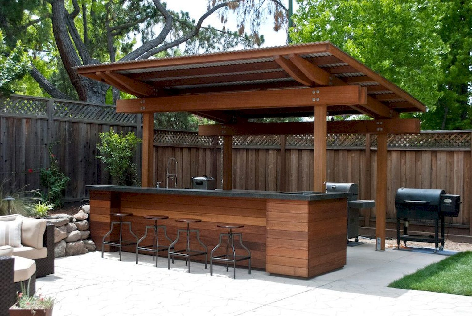 9 Awesome Outdoor Kitchens Ideas On A Budget   Backyard patio ...