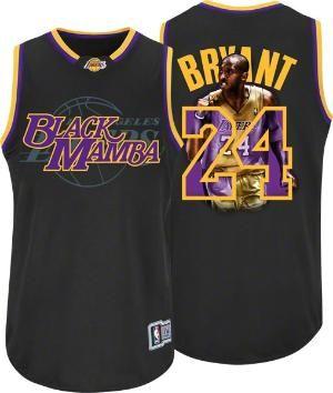Kobe Bryant Los Angeles Lakers  Black Mamba  Majestic Notorious Jersey 28ffa4c6e