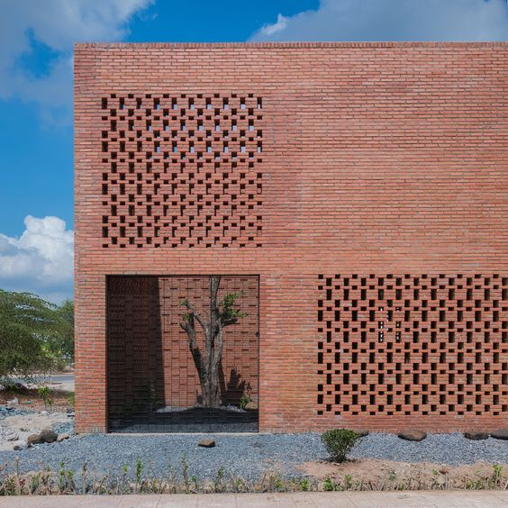 70+ Fascinating Brick Pattern Facade That Will Amaze You
