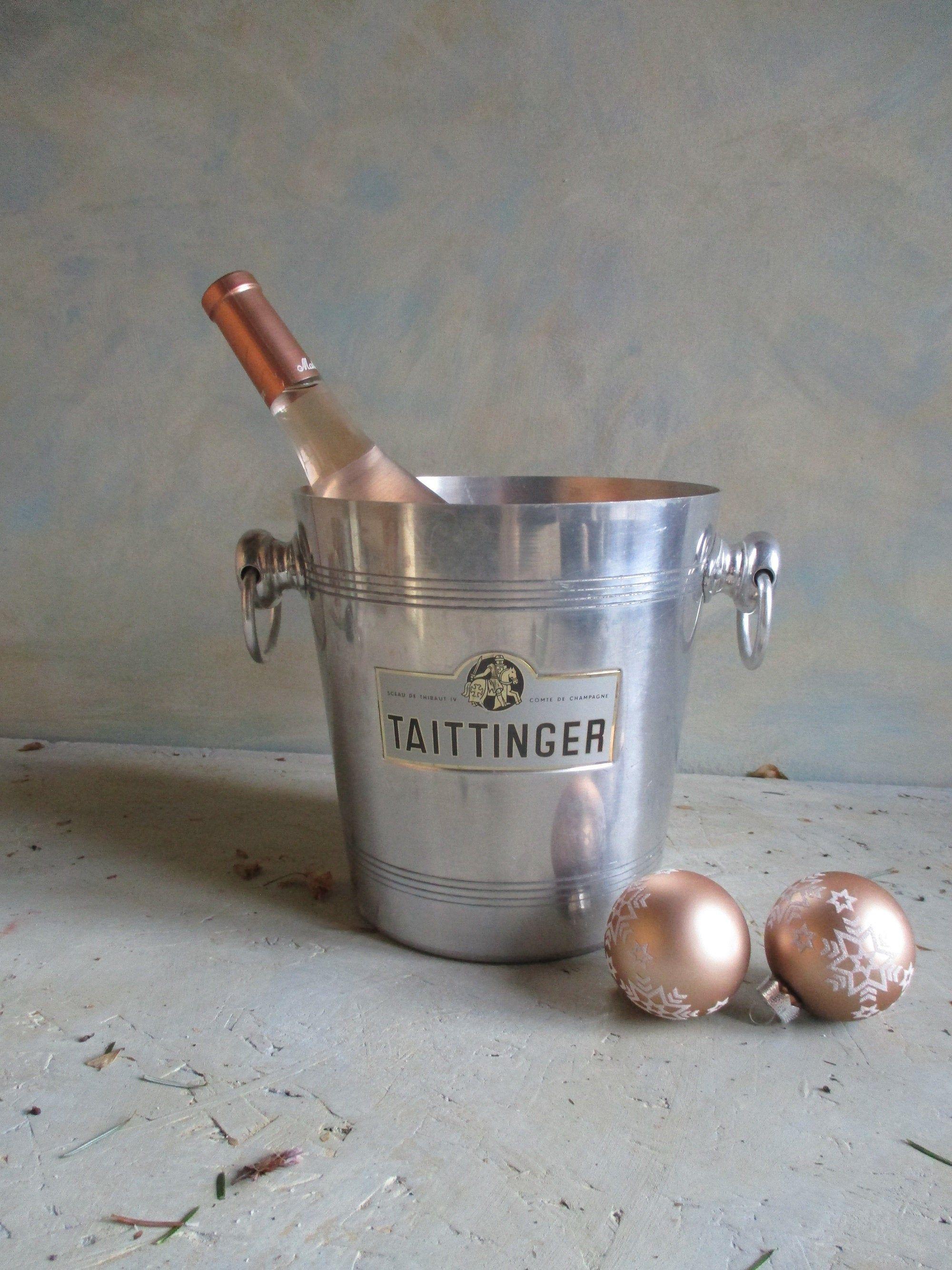 Champagne Bucket Taittinger Champagne Bottle Cooler Wine Cooler French Vintage Champagne Cooler Vintage Wine Bucket Christmas Decor Taittinger Champagne Champagne Cooler Vintage Champagne