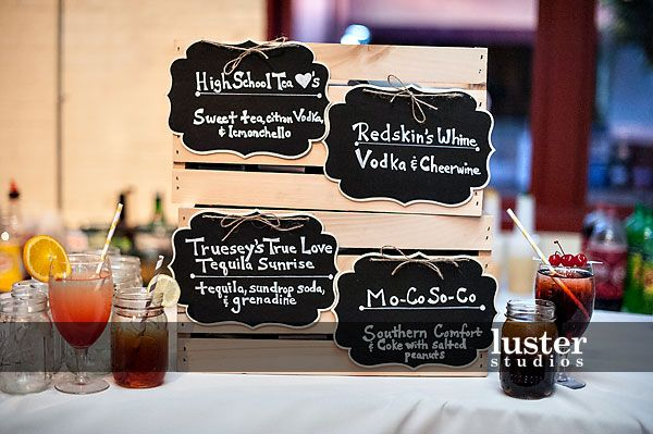 Signature Wedding Drink Names Reception Catering Caterer Raleigh