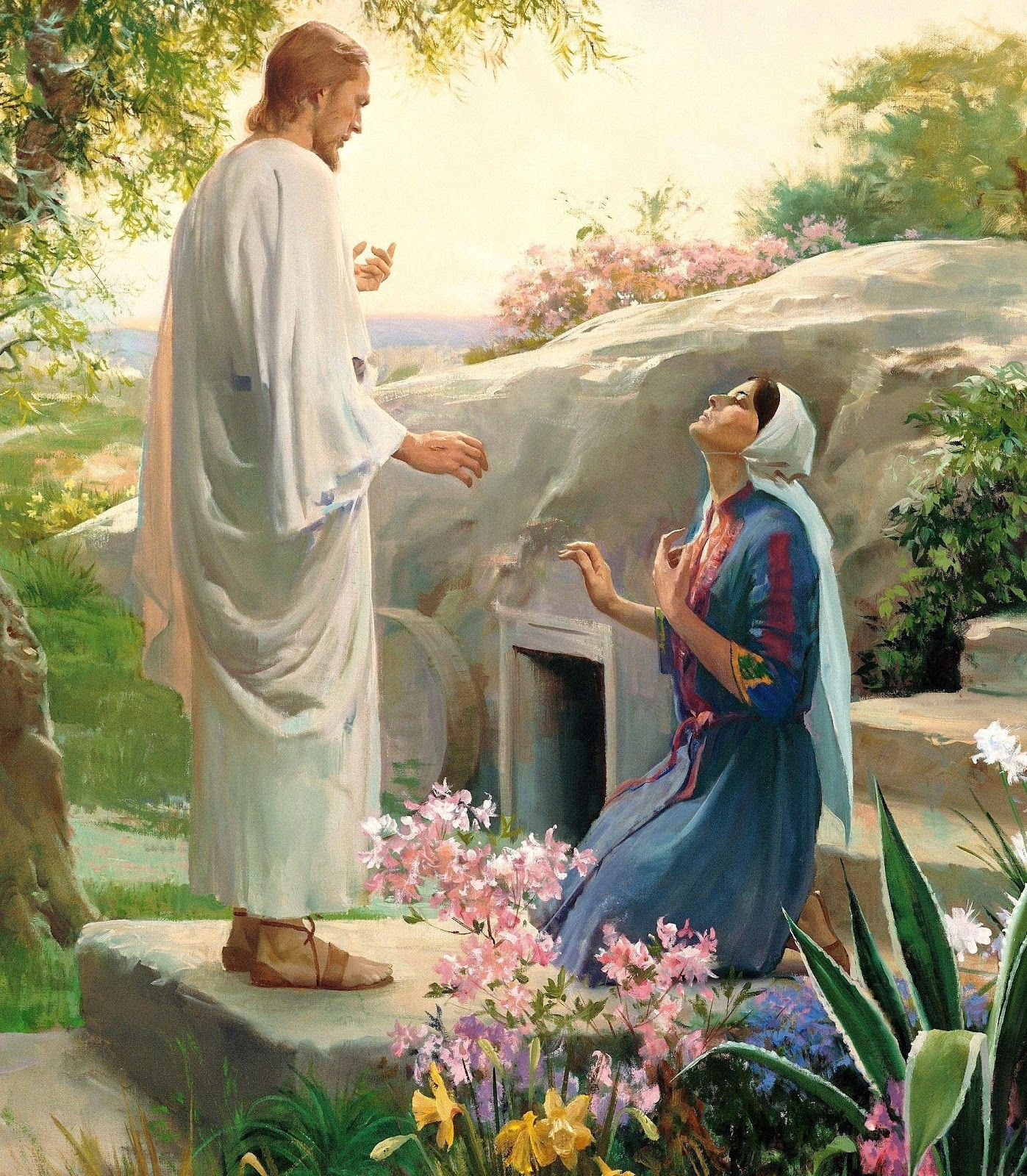 jesus and mary magdalene | Jesus Appears to Mary Magdalene | Jesus resurrection, Christ centered easter, Pictures  of christ