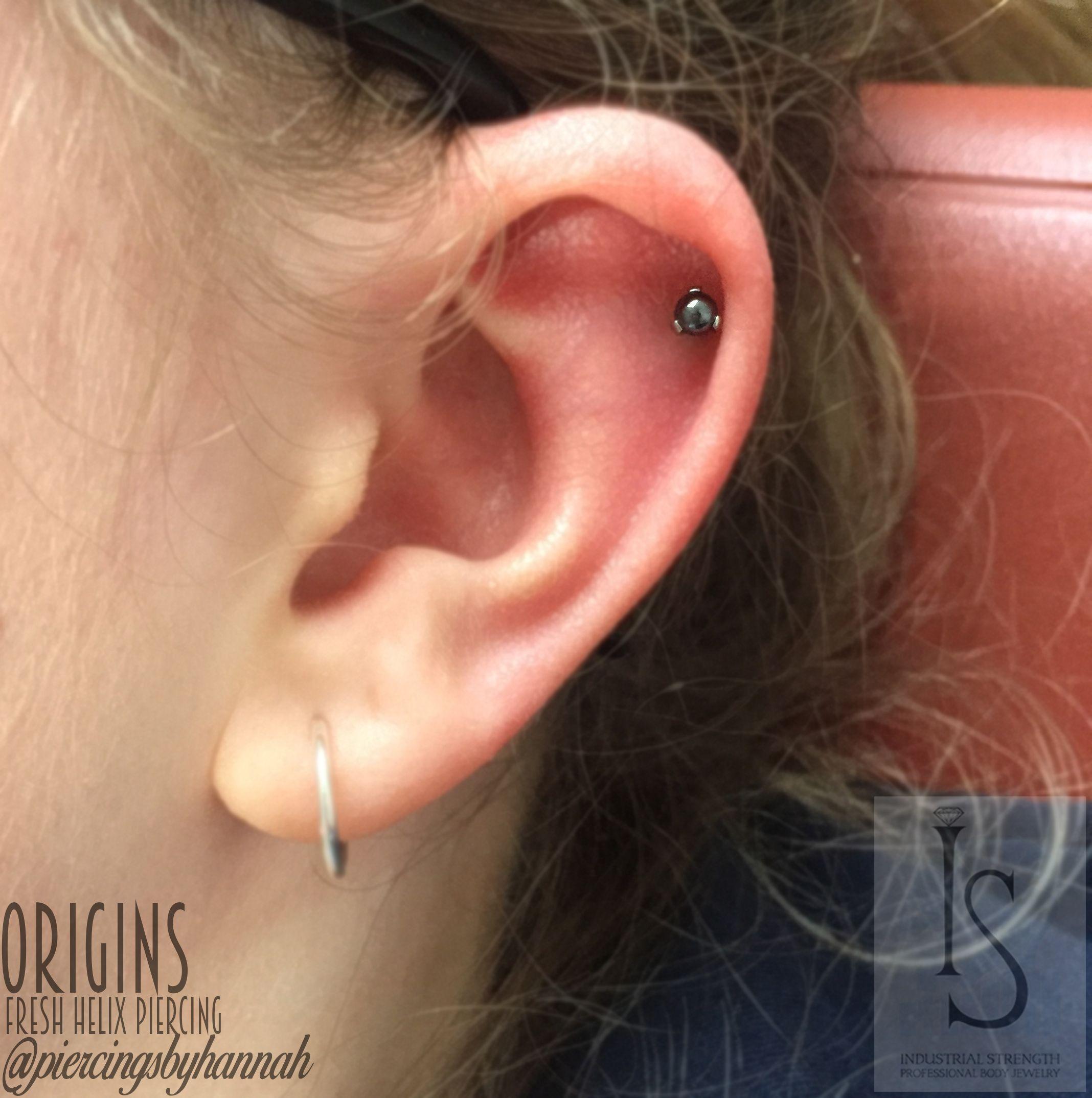 Nose piercing gun vs needle  Fresh helix piercing Pierced by piercingsbyhannah Studio Origin