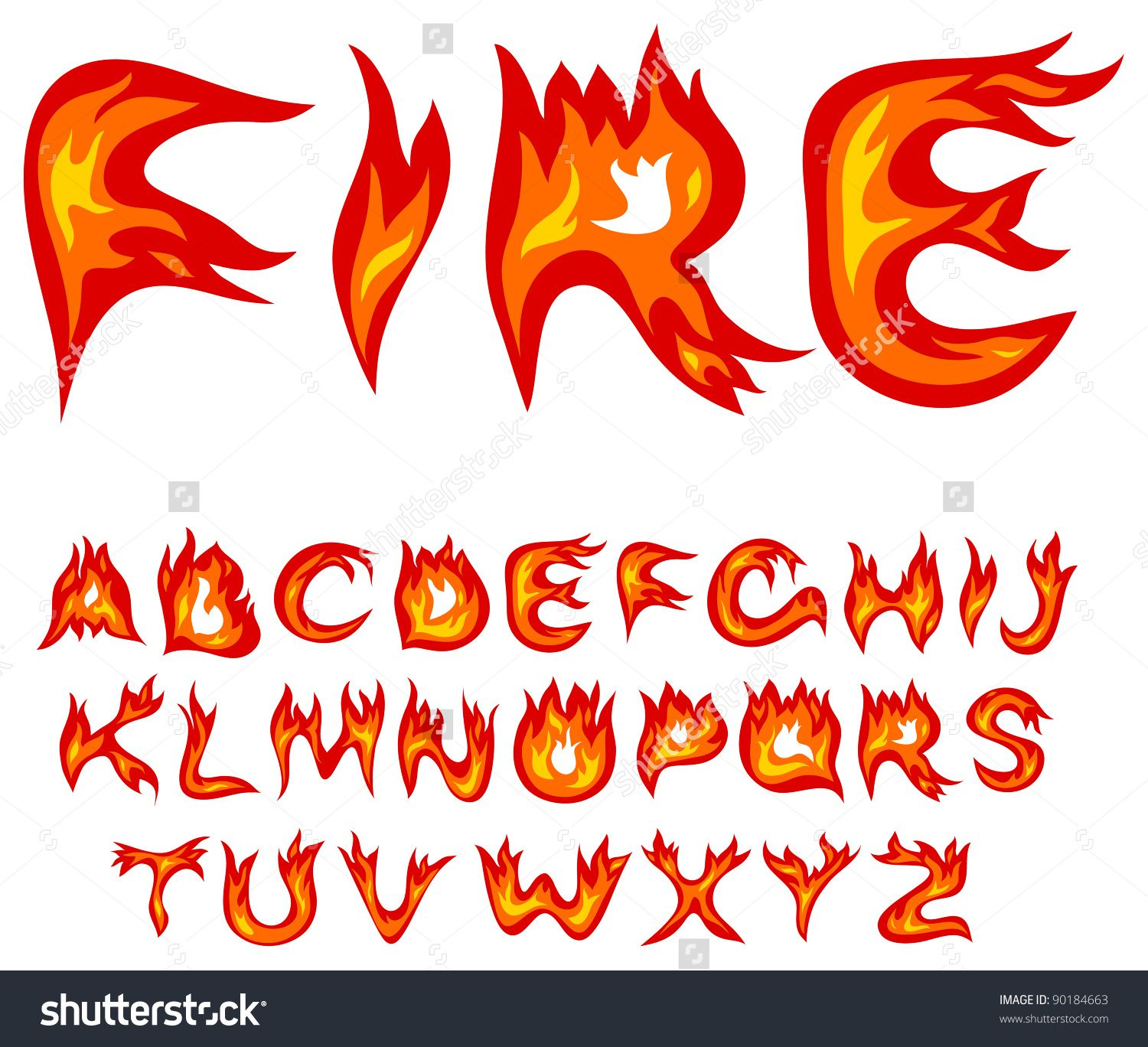 406d535f1955 letters as flames vector - Google Search