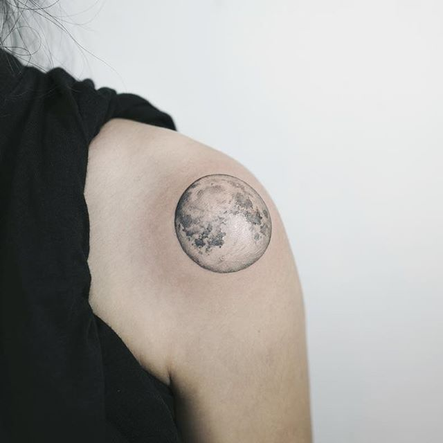 Moon More Shoulder Tattoo Tattoos For Guys Tattoos