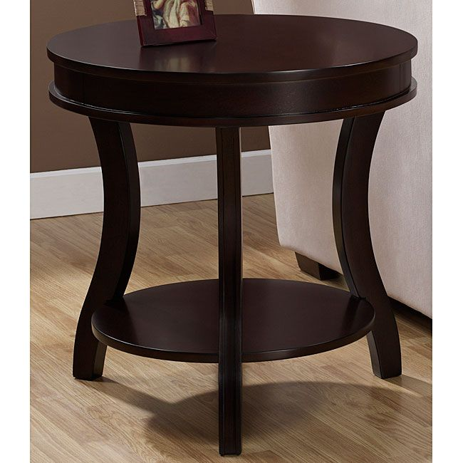 Add A Modern Touch To Any Area Of Your Home With This Chic End Table Made Solid Wood Ensure Its Durability Has Beautiful Espresso