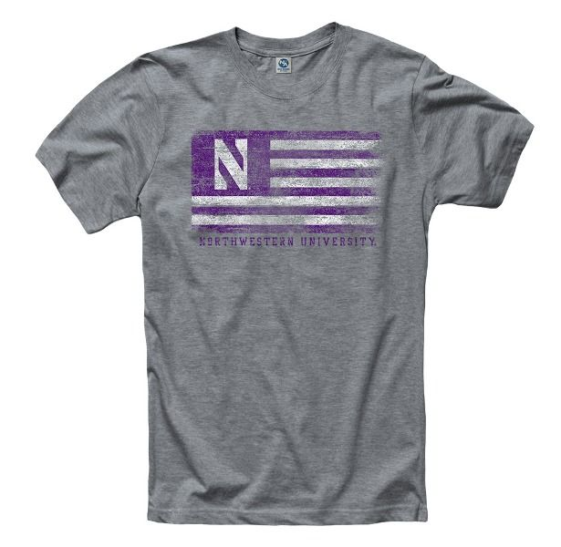 Image for NORTHWESTERN® BUSTED FLAG TEE