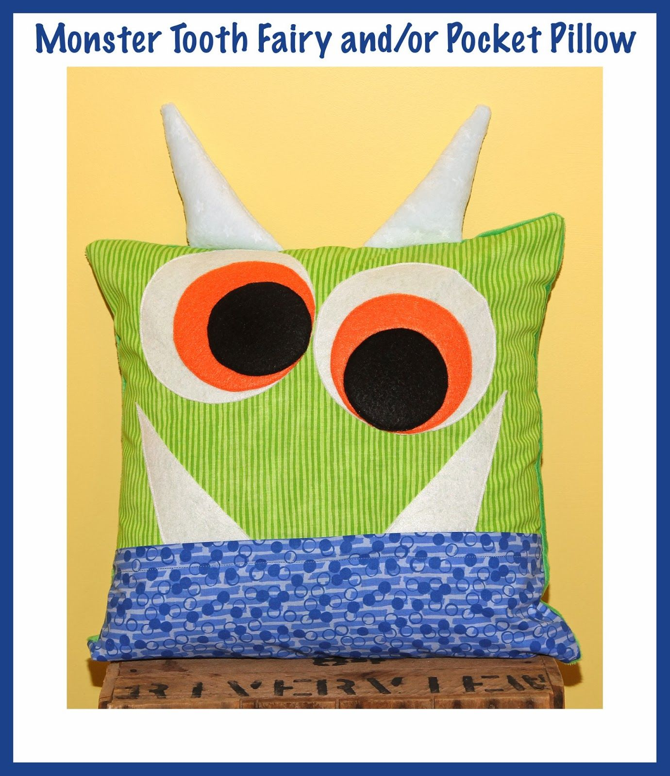 Super Cute Monster Pillow To Leave A Tooth For The Tooth