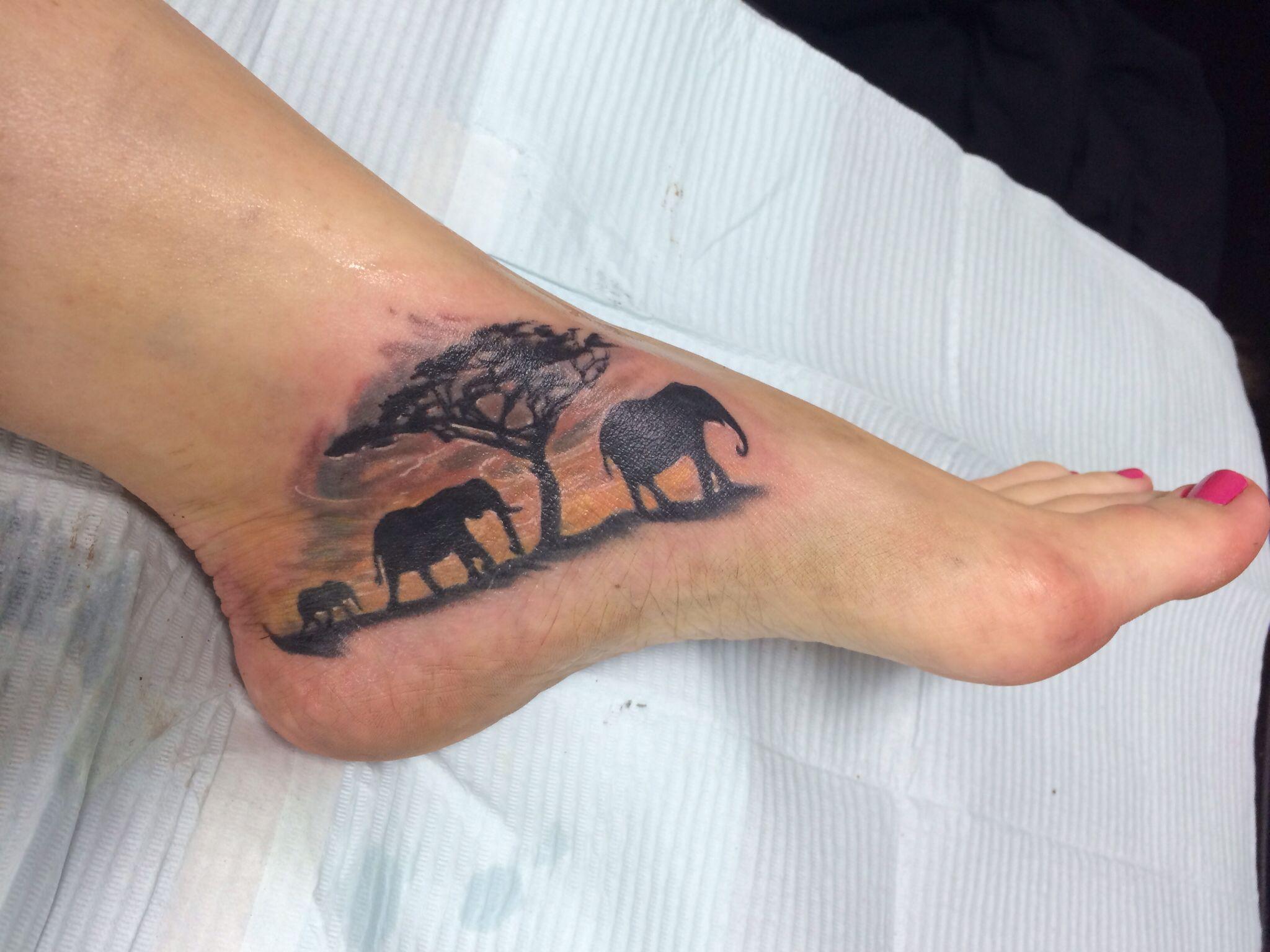 My Elephant Foot Tattoo Foot Tattoos Foot Tattoos For Women Elephant Tattoos