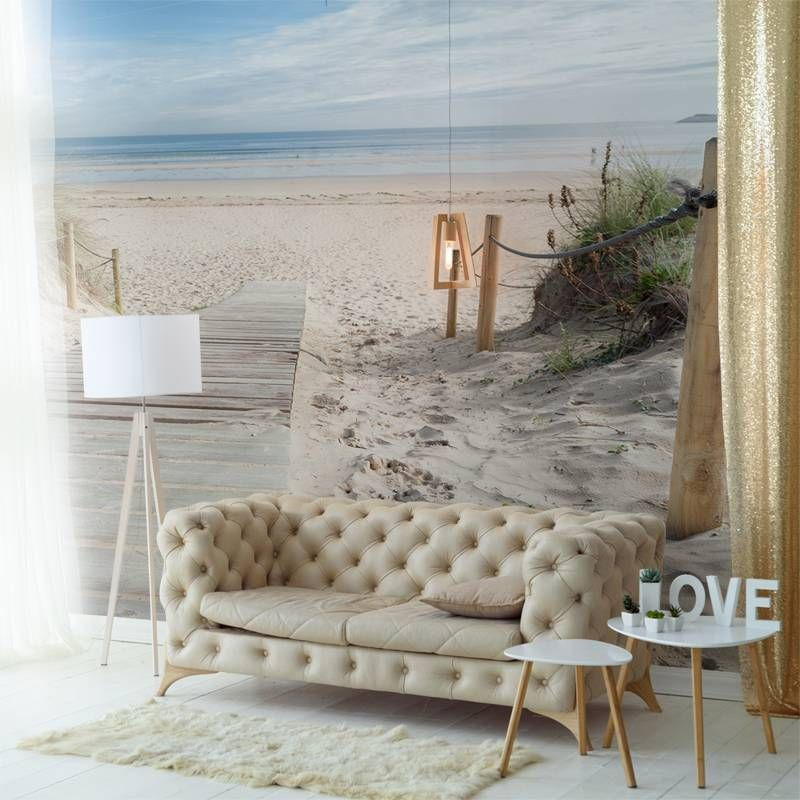 Morning on the beach Living room Contemporary Nature Wall