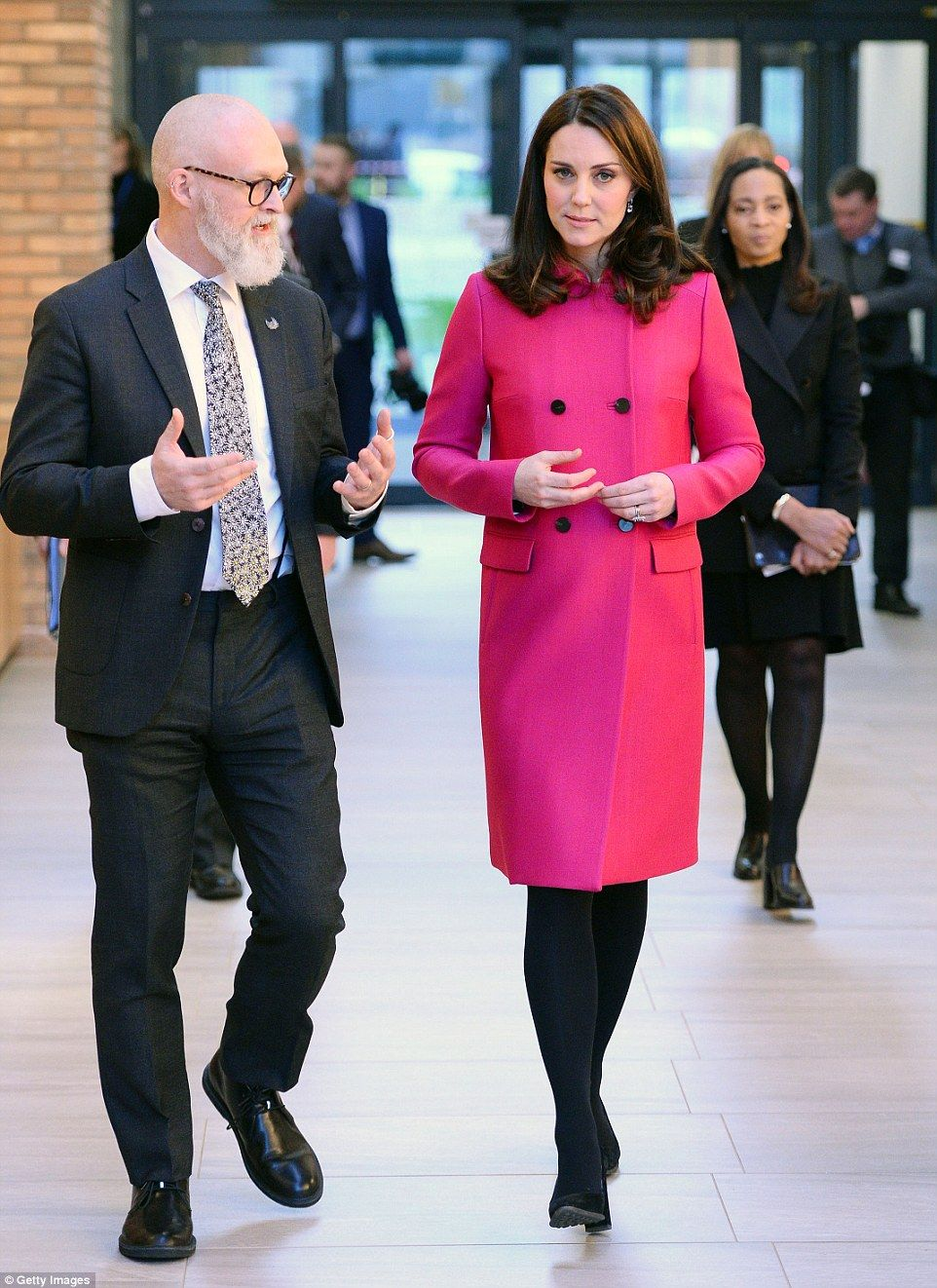 Pregnant Duchess of Cambridge visits Coventry with William | Style ...