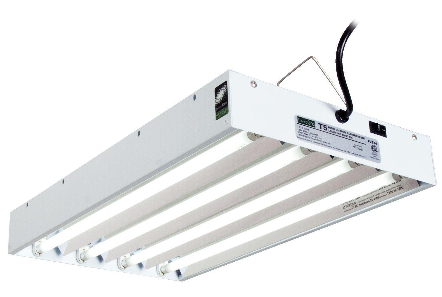 Envirogro Flt24 2 Ft 4 Tube Fixture T5 Bulbs Included Best
