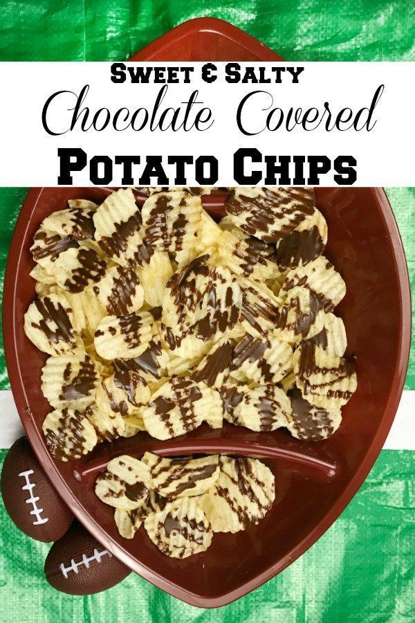 & Salty Chocolate Covered Potato Chips Enjoy these super easy to prepare Sweet & Salty Potato Chips for your next Football party! Only two ingredients and ready in minutes. A delicious combination of sweet and salty.Enjoy these super easy to prepare Sweet & Salty Potato Chips for your next Football party! Only two ingredients and ready ...
