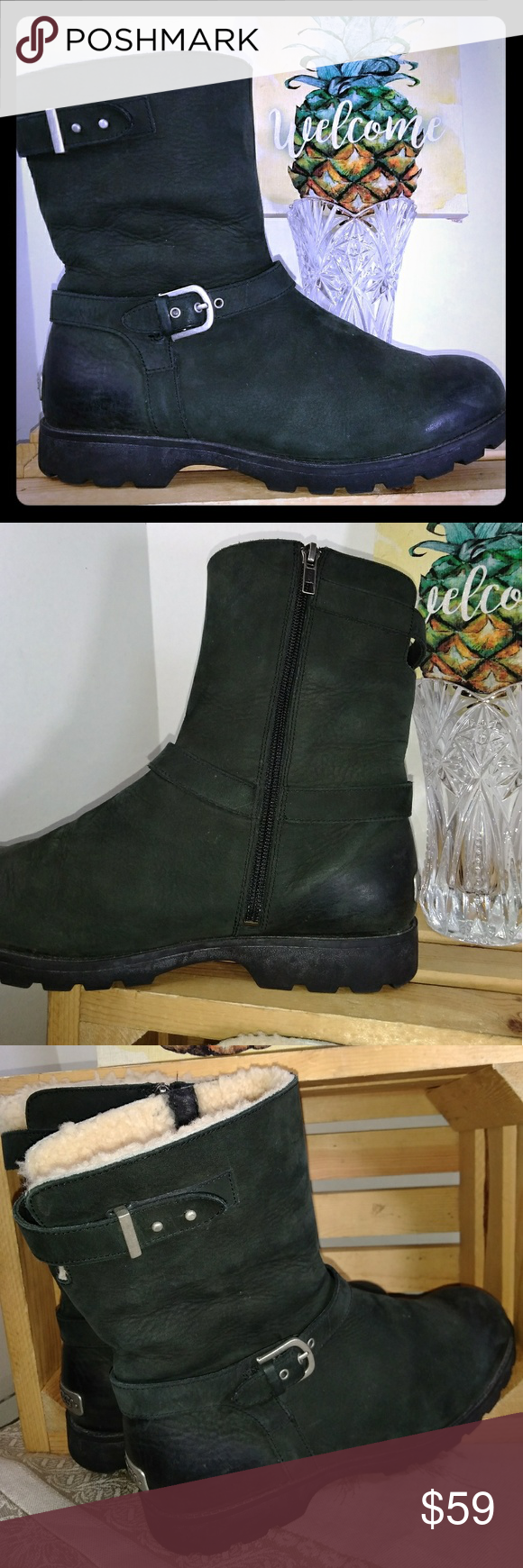 5f40445c9a4 UGG Grandle Size 10 Ankle Boots Leather Preowned, very good ...