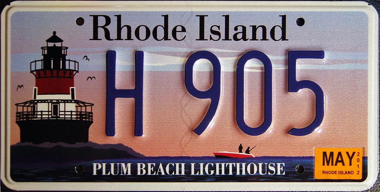Image detail for Rhode Island Y2K License plate, State
