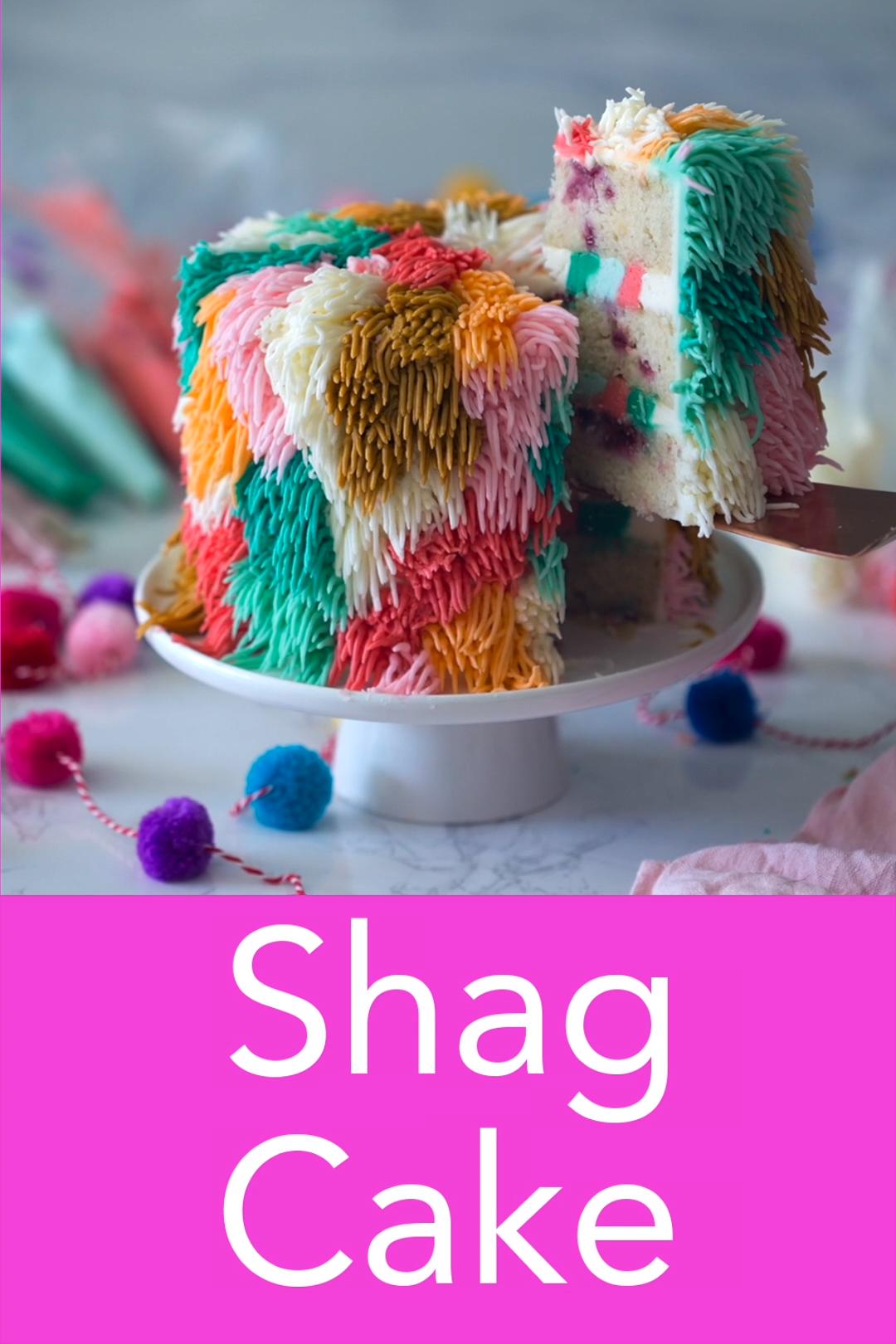 Shag Cake #cakedecoratingvideos