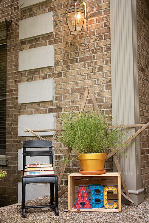 Decorate your front porch for back to school!
