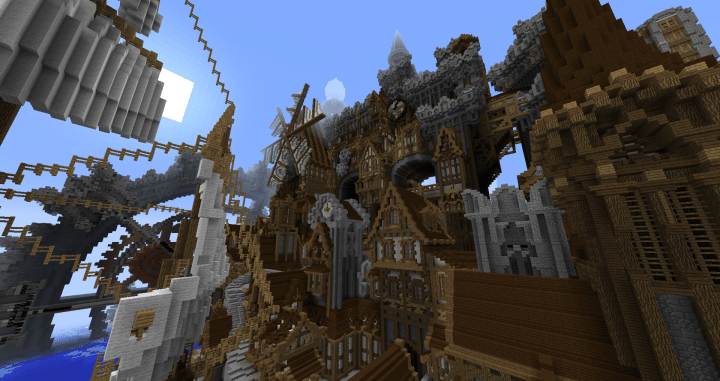 Conderial Steampunk City Amazing Minecraft building ideas download