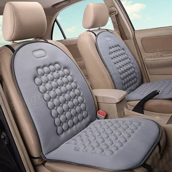 Only US1399 Buy Best Car Seat Cushion Therapy Massage Cover Padded Bubble Foam Grey
