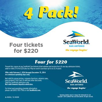 image relating to Seaworld San Antonio Coupons Printable known as SeaWorld San Antonio Coupon Noah Sea planet, San antonio