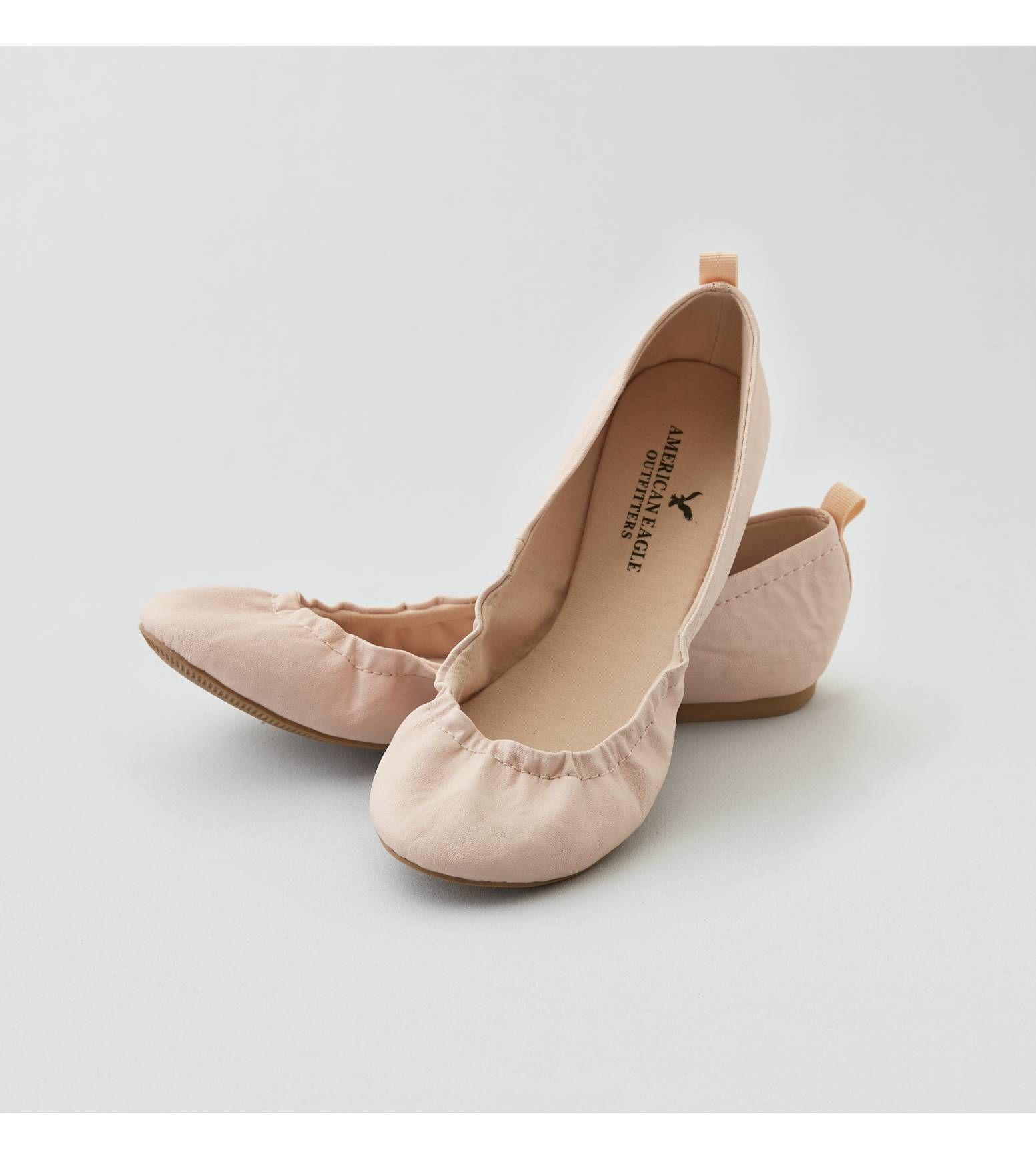 Nude AEO Classic Scrunch Ballet Flat