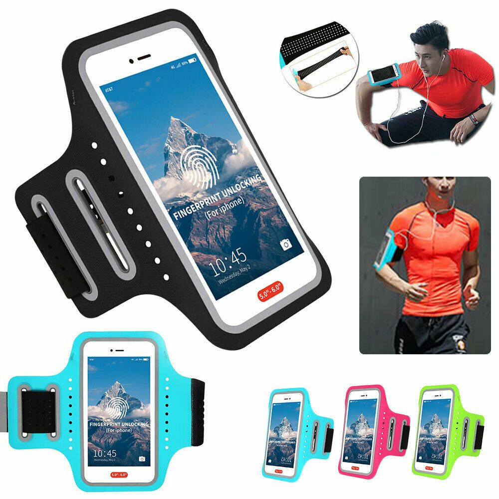 4d5560da87c3 Silicone Armband Case Phone Holder Arm Band Gym Running Pouch Sport ...
