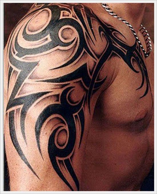 tatouage tribal bras et  paule