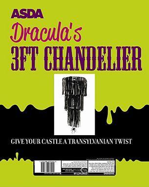 ASDA Dracula Chandelier | Decorations & Lights | ASDA direct