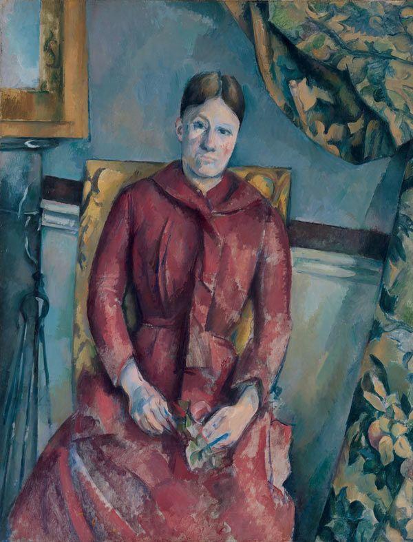 Paul Cézanne (French, 1839–1906) | Madame Cézanne in a Red Dress, ca. 1888–90 | 62.45