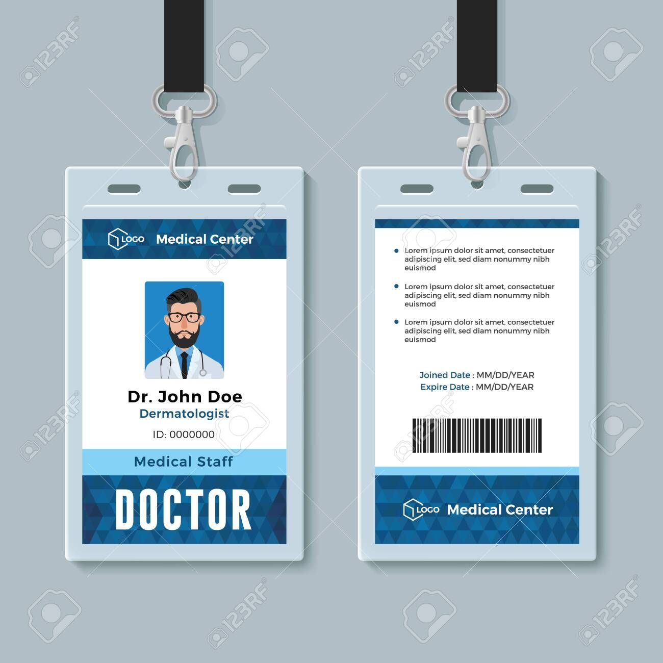 The Astonishing Doctor Id Card Medical Identity Badge Design Template For Doctor Id Card Template Digital Pho Employee Id Card Id Card Template Badge Template