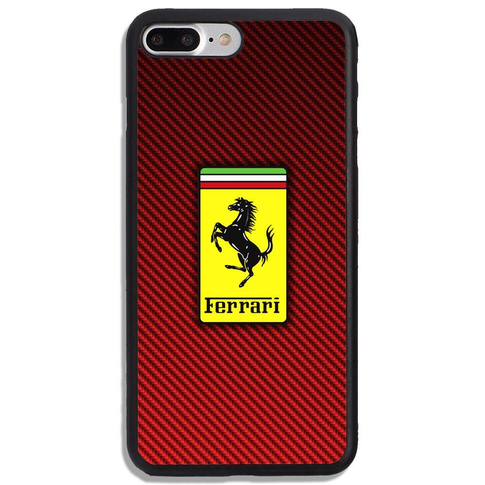 New Ferrari Logo Red Carbon iPhone Samsung 5 6 7 8 9 X SE Plus Case #newferrari